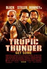 Tropic Thunder (2008) Sebuah kru film sedang membuat film di kawasan Asia Tenggara untuk mengenang perang Vietnam. Pada suatu hari, mereka diserang oleh pengedar obat lokal dan sang aktor, Tugg Speedman, diculik oleh para penjahat tersebut. Para aktor yang lain terpaksa menjadi tentara dan melakukan aksi-aksi yang sebelumnya hanya pernah