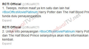 #update Harry Potter and the Half-Blood Prince Tidak Jadi Tayang Sabtu Ini