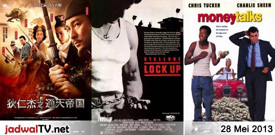 Jadwal Film dan Sepakbola 28 Mei 2013 – GlobalTV 18.30WIB: Everyone's Hero (2006 – animasi) – GlobalTV 20.30WIB: Detective Dee:Mystery of the Phantom Flame (2010 – Tony Leung, Andy Lau) – AnTV 21.30WIB: Cinlok (2008 – Tora Sudiro, Luna Maya, Tukul Arwana) – TransTV 22.30WIB: Lock Up (1989 – Sylvester Stallone, Donald Sutherland, John Amos) […]