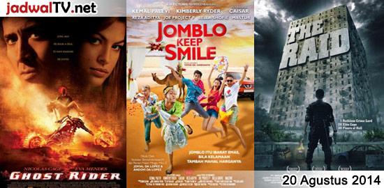 Jadwal Film dan Sepakbola 20 Agustus 2014 – TransTV 18.00WIB: Kungfu Hustle (2004 – Stephen Chow, Wah Yuen, Qiu Yuen) – GlobalTV 19.00WIB: RRRrrrr!!! (2004 – Marina Fois, Gerard Depardieu, Damien Jouillerot) – TransTV 20.00WIB: Terminator (1984 – Arnold Schwarzenegger, Linda Hamilton) – GlobalTV 21.30WIB: The Scorpion King 3 (2012 – Dave Bautista, Billy Zane) […]