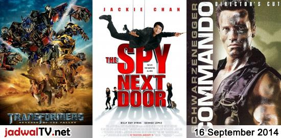 Jadwal Film dan Sepakbola 16 September 2014 – GlobalTV 18.00WIB: Naruto Shippuden:Road To Ninja (2012 – animasi) – TransTV 18.00WIB: Transformers:Revenge of the Fallen (2009 – Shia LaBeouf, Megan Fox) – GlobalTV 20.00WIB: Spy Next Door (2010 – Jackie Chan, Amber Valletta, Billy Ray Cyrus) – TransTV 21.00WIB: Black Hawk Down (2001 – Josh Hartnett, […]