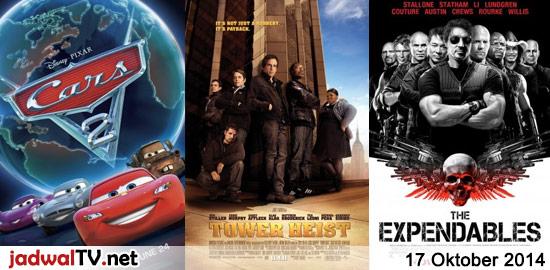 Jadwal Film dan Sepakbola 17 Oktober 2014 – GlobalTV 17.30WIB: Cars 2 (2011 – animasi) – TransTV 18.00WIB: The 6th Day (2000 – Arnold Schwarzenegger, Michael Rapaport) – GlobalTV 20.00WIB: Tower Heist (2011 – Ben Stiller, Eddie Murphy, Casey Affleck) – TransTV 20.30WIB: Charlie's Angels:Full Throttle (2003 – Cameron Diaz, Drew Barrymore) – GlobalTV 22.30WIB: […]