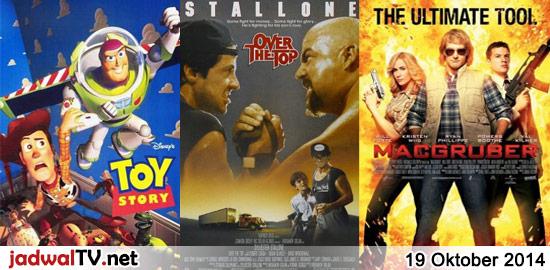 Jadwal Film dan Sepakbola 19 Oktober 2014 – MNCTV 11.00WIB: Jab Tak Hai Jaan (2012 – Shah Rukh Khan, Katrina Kaif, Anushka Sharma) – GlobalTV 18.00WIB: Toy Story (1995 – animasi) – GlobalTV 20.00WIB: My Father Is A Hero (1995 – Jet Li, Anita Mui, Mo Tse) – TransTV 21.30WIB: Bioskop TransTV (Info Menyusul) – […] The post Jadwal Film dan Sepakbola 19 Oktober 2014 appeared first on Jadwal TV.