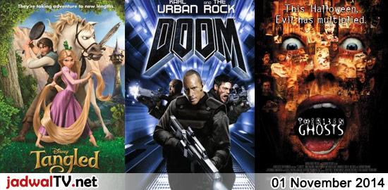 Jadwal Film dan Sepakbola 1 November 2014 – RCTI 13.00WIB: Mr. Go (2013 – Song Dong-il Song, Xu Jiao, Kim Hee-won) – MNCTV 13.00WIB: Mann (1999 – Aamir Khan, Manisha Koirala, Sharmila Tagore) – GlobalTV 17.00WIB: Tangled (2010 – animasi) – GlobalTV 19.30WIB: Doom (2005 – Dwayne Johnson, Rosamund Pike, Karl Urban) – TransTV 21.00WIB: […] The post Jadwal Film dan Sepakbola 1 November 2014 appeared first on Jadwal TV.