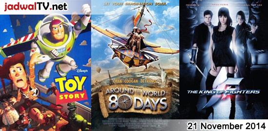 Jadwal Film dan Sepakbola 21 November 2014 – GlobalTV 17.30WIB: Toy Story (1995 – animasi) – GlobalTV 19.30WIB: Around The World In 80 Days (2004 – Jackie Chan, Steve Coogan) – TransTV 21.30WIB: Universal Soldier (1992 – Jean-Claude Van Damme, Dolph Lundgren) – GlobalTV 22.00WIB: Locked Down (2010 – Tony Schiena, Dave Fennoy, Vinnie Jones) […]