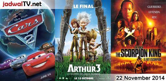 Jadwal Film dan Sepakbola 22 November 2014 – RCTI 12.00WIB: Cars (2006 – animasi) – MNCTV 13.00WIB: Ra One (2011 – Arjun Rampal, Shah Rukh Khan, Kareena Kapoor) – RCTI 14.00WIB: Cars 2 (2011 – animasi) – GlobalTV 18.00WIB: Arthur And The Minimoys 3 (2010 – animasi) – TransTV 20.00WIB: Faster (2010 – Dwayne Johnson, […]