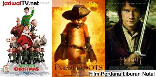 """Menjelang libur Natal 2014, ada beberapa film perdana yang akan di TV lokal antara lain """"The Hobbit: An Unexpected Journey"""", film animasi """"Puss In Boots"""" dan """"Arthur Christmas"""" dan lainnya. Untuk film akhir tahun dan tahun baru, akan diinfokan nanti lebih lanjut. Jadwal Film Perdana Di TV Lokal tanggal 25 Desember 2014 TransTV: – Puss […]"""