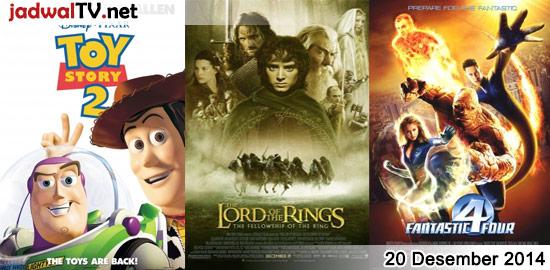 Jadwal Film dan Sepakbola 20 Desember 2014 – GlobalTV 08.00WIB: Up (2009 – animasi) – MNCTV 13.00WIB: Khushi (2003 – Kareena Kapoor, Amitabh Bachchan, Amrish Puri) – GlobalTV 18.00WIB: Toy Story 2 (1999 – animasi) – TransTV 21.00WIB: Octopussy (1983 – Roger Moore, Maud Adams, Louis Jourdan) – GlobalTV 20.00WIB: The Lord Of The Rings:The […]