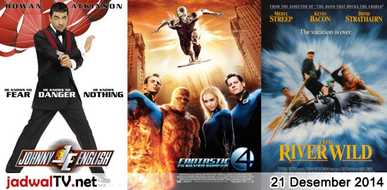 Jadwal Film dan Sepakbola 21 Desember 2014 – GlobalTV 07.30WIB: TMNT (2007 – animasi) – MNCTV 13.00WIB: Mohabbatein (2000 – Amitabh Bachchan, Shah Rukh Khan, Uday Chopra) – GlobalTV 19.00WIB: My Father Is A Hero (1995 – Jet Li, Anita Mui, Mo Tse) – TransTV 20.00WIB: A View To Kill (1985 – Roger Moore, Christopher […]