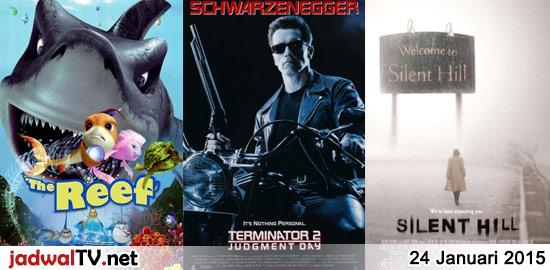 Jadwal Film dan Sepakbola 24 Januari 2015 – RCTI 07.30WIB: Pertarungan Nobita Melawan Pasukan Robot Planet Megathobia (animasi) – GlobalTV 08.00WIB: Barbie:A Fairy Secret (2011 – animasi) – MNCTV 12.00WIB: Koi Mil Gaya (2003 – Rekha, Hrithik Roshan, Preity Zinta) – GlobalTV 18.00WIB: The Reef (2006 – animasi) – TransTV 20.00WIB: S.W.A.T (2003 – Samuel […]