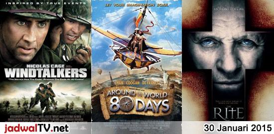 Jadwal Film dan Sepakbola 30 Januari 2015 – GlobalTV 18.30WIB: George of The Jungle (1997 – Brendan Fraser, Leslie Mann) – TransTV 19.00WIB: Windtalkers (2002 – Nicolas Cage, Adam Beach, Peter Stormare) – GlobalTV 20.30WIB: Around The World In 80 Days (2004 – Jackie Chan, Steve Coogan) – GlobalTV 23.00WIB: The Rite (2011 – Colin […]