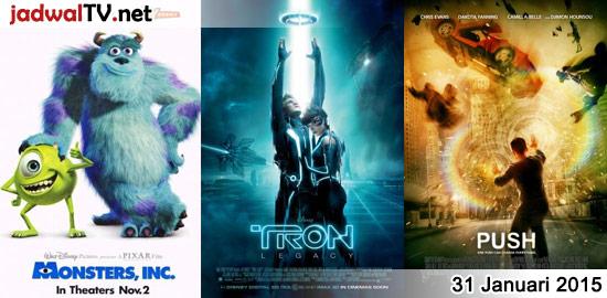 Jadwal Film dan Sepakbola 31 Januari 2015 – GlobalTV 08.00WIB: Monsters, Inc. (2001 – animasi) – RCTI 12.30WIB: The Reef 2 (2012 – animasi) – RCTI 14.30WIB: Monsters, Inc. (2001 – animasi) – GlobalTV 18.00WIB: Baby Geniuses 3 (2013 – Jon Voight, Skyler Shaye, Casey Graf) – TransTV 20.00WIB: Bioskop TransTV – GlobalTV 20.00WIB: Tron:Legacy […]