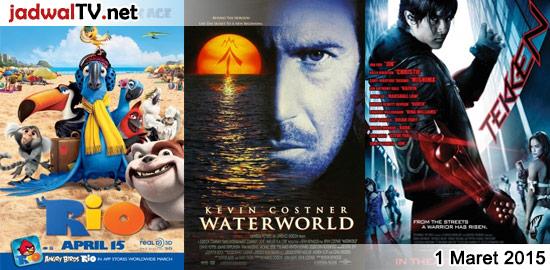 Jadwal Film dan Sepakbola 1 Maret 2015 – RCTI 06.00WIB: Dinosaur (2000 – animasi) – GlobalTV 08.00WIB: Bolt (2008 – animasi) – antv 09.00WIB: Joshua Oh Joshua (2001 – Joshua Suherman, Anjasmara, Eman) – MNCTV 12.30WIB: Jab Tak Hai Jaan (2012 – Shah Rukh Khan, Katrina Kaif, Anushka Sharma) – RCTI 12.30WIB: Rio (2011 – […]