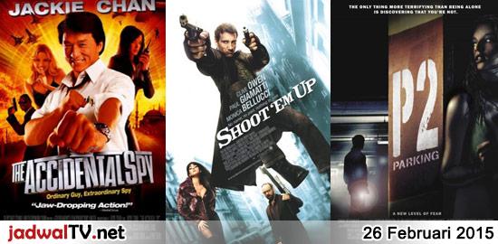 Jadwal Film dan Sepakbola 26 Februari 2015 – GlobalTV 19.00WIB: Toy Story 2 (1999 – animasi) – GlobalTV 21.00WIB: The Accidental Spy (2001 – Jackie Chan, Min Kim, Eric Tsang) – RCTI 22.45WIB: Shoot 'Em Up (2007 – Clive Owen, Paul Giamatti, Monica Bellucci) – GlobalTV 23.30WIB: Bird On Wire (1990 – Mel Gibson, Goldie […]