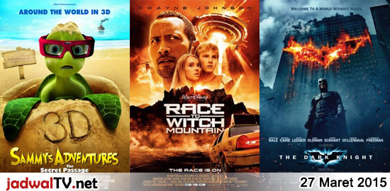 Jadwal Film dan Sepakbola 27 Maret 2015 – RCTI 09.30WIB: Barbie Fairytopia (2005 – animasi) – GlobalTV 11.00WIB: Shaolin Let's Go (2003 – Kok Siu Man, Ng Man Tat, Sing Long) – SCTV 12.30WIB: Viva JKT48 (2014 – JKT48, Ayu Dewi, Mario Maulana) – RCTI 12.30WIB: Sammy's Adventure (2010 – animasi) – SCTV 14.30WIB: Ayah […]