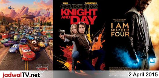 Jadwal Film dan Sepakbola 2 April 2015 – RCTI 09.30WIB: Barbie Fairytopia Magic of the Rainbow (2007 – animasi) – GlobalTV 19.00WIB: Cars (2006 – animasi) – GlobalTV 21.30WIB: Knight And Day (2010 – Tom Cruise, Cameron Diaz, Peter Sarsgaard) – RCTI 22.45WIB: I Am Number Four (2011 – Alex Pettyfer, Timothy Olyphant, Dianna Agron) […]