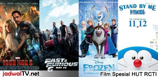 Parade Film Box Office Movie Platinum Spesial HUT RCTI Ke 26 RCTI akan menayangkan sejumlah film perdana dalam rangka merayakan hari ulang tahunnya yang ke-26. Film-film yang pernah bertengger di puncak box office dunia yang akan ditayangkan tersebut adalah Iron Man 3, Frozen, Fast & Furious 6 dan Stand By Me Doraemon. Selain itu juga […]