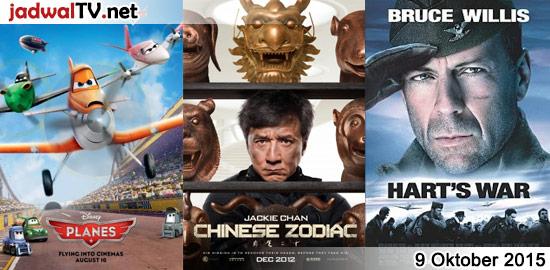 Jadwal Film dan Sepakbola 9 Oktober 2015 – RCTI 14.15WIB: Tangled (2010 – animasi) – GlobalTV 19.00WIB: Planes (2013 – animasi) – TransTV 20.00WIB: The One (2001 – Jet Li, Carla Gugino, Delroy Lindo) – GlobalTV 21.00WIB: Chinese Zodiac (2012 – Jackie Chan, Shu Qi, Haobo Chu) – TransTV 23.00WIB: Hart's War (2002 – Bruce […]