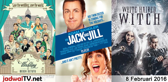 Jadwal Film 8 Februari 2016 – RCTI 06.30WIB: Rio (2011 – animasi) – Indosiar 08.00WIB: Barbie Fairytopia:Magic of The Rainbow (2007 – animasi) – RCTI 09.30WIB: Doraemon:Nobita dan Labirin Kaleng (animasi) – RCTI 12.30WIB: Epen Cupen (2015 – Klemen Awi, Babe Cabita, Marissa Nasution) – SCTV 14.00WIB: Jomblo Keep Smile (2014 – Kimberly Ryder, Kemal […]