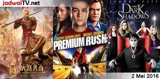 Jadwal Film 2 Mei 2016 – GlobalTV 18.00WIB: The Monkey King (2014 – Donnie Yen, Chow Yun-Fat, Aaron Kwok) – GlobalTV 20.30WIB: Con Air (1997 – Nicolas Cage, John Cusack, John Malkovich) – TransTV 22.00WIB: Premium Rush (2012 – Joseph Gordon-Levitt, Michael Shannon, Dania Ramirez) – GlobalTV 23.00WIB: Dark Shadows (2012 – Johnny Depp, Michelle […]