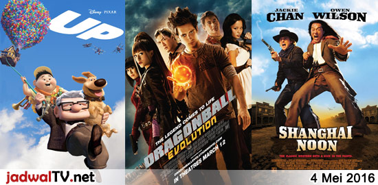 Jadwal Film dan Sepakbola 4 Mei 2016 – GlobalTV 16.00WIB: Tinker Bell and The Lost Treasure (2009 – animasi) – GlobalTV 18.00WIB: Up (2009 – animasi) – GlobalTV 20.00WIB: Dragonball:Evolution (2009 – Justin Chatwin, Chow Yun Fat, Emmy Rossum) – TransTV 21.30WIB: Tomorrow Never Dies (1997 – Pierce Brosnan, Michelle Yeoh) – GlobalTV 22.00WIB: Shanghai […]