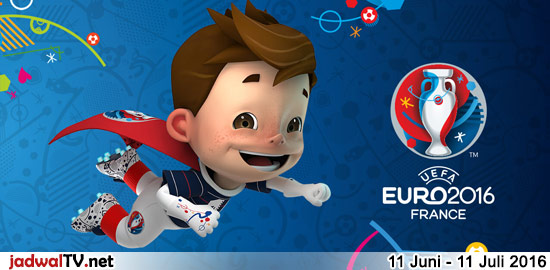 Jadwal Siaran Langsung Euro 2016 Di RCTI Euro 2016 akan berlangsung pada tanggal 11 Juni – 11 Juli 2016 (WIB) dan akan disiarkan baik secara langsung maupun tunda oleh stasiun RCTI. Kejuaraan sepakbola antar negara di Eropa ini akan berlangsung di Perancis dan diikuti oleh 24 negara (pada Euro sebelumnya, biasanya diikuti oleh hanya 16 […]