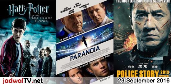Jadwal Film 23 September 2016 – MNCTV 09.00WIB: Prem Ratan Dhan Payo (2015 – Salman Khan, Sonam Kapoor, Neil Nitin Mukesh) – GlobalTV 14.00WIB: The Incredibles (2004 – animasi) – GlobalTV 16.00WIB: Sky High (2005 – Kurt Russell, Kelly Preston, Michael Angarano) – TransTV 16.30WIB: The Tarix Jabrix 3 (2009 – The Changcuters, Olivia Lubis […]