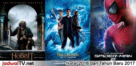 Jadwal Film Perdana Natal 2016 dan Tahun Baru 2017 *Jadwal masih dapat berubah Sabtu, 24 Desember 2016 – TransTV 19.00WIB: The Hobbit:The Battle of the Five Armies (2014 – Martin Freeman) Sinopsis: http://www.jadwaltv.net/artikel/9936/hobbit-battle-five-armies-2014.html Minggu, 25 Desember 2016 – RCTI 13.30WIB: Big Hero 6 (2014 – animasi) Sinopsis: http://www.jadwaltv.net/artikel/14337/big-hero-6-2014.html – Trans7 19.00WIB: Sabtu Bersama Bapak (2016 […]