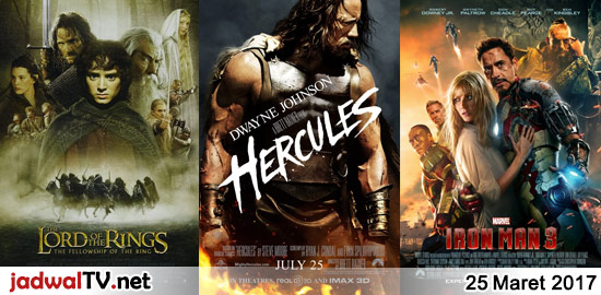 Jadwal Film dan Sepakbola 25 Maret 2017 – RCTI 13.30WIB: The Lego Movie (2014 – animasi) – GlobalTV 14.30WIB: Cars (2006 – animasi) – GlobalTV 18.00WIB: Naruto:Ghost From The Past (animasi) – GlobalTV 20.00WIB: The Lord Of The Rings:The Fellowship Of The Ring (2001 – Elijah Wood) – TransTV 21.00WIB: Hercules (2014 – Dwayne Johnson, […]