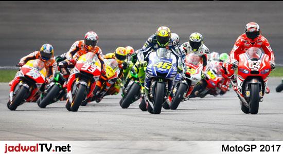 Jadwal MotoGP 2017 Di Trans7 Seperti musim-musim sebelumnya, MotoGP akan disiarkan secara live di stasiun Trans7 dengan total 18 seri balapan yang akan dipertandingkan. Trans7 disebut-sebut sudah mengantongi hak siar MotoGP sampai dengan musim 2022. Jadi bagi penggemar balapan yang sudah tidak sabar melihat aksi Valentino Rossi, Jorge Lorenzo, dan Marc Marquez, silahkan catat jadwal […]