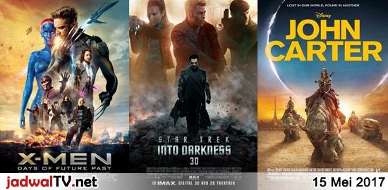 Jadwal Film dan Sepakbola 15 Mei 2017 – RCTI 08.15WIB: The Snow Queen 2 (2014 – animasi) – RCTI 12.00WIB: Doraemon Nobita's Mermaid Legend (2010 – animasi) – GlobalTV 12.00WIB: Zambezia (2012 – animasi) – TransTV 20.00WIB: The Mask (1994 – Jim Carrey, Cameron Diaz, Peter Riegert) – GlobalTV 20.00WIB: X-Men:Days of Future Past (2014 […]