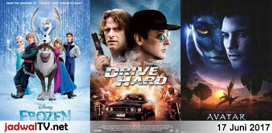 Jadwal Film dan Sepakbola 17 Juni 2017 – GlobalTV 07.00WIB: Despicable Me (2010 – animasi) – RCTI 07.00WIB: The Game Plan (2007 – Dwayne Johnson, Kyra Sedgwick, Madison Pettis) – GlobalTV 13.30WIB: Frozen (2013 – animasi) – TransTV 19.30WIB: Drive Hard (2014 – John Cusack, Thomas Jane, Zoe Ventoura) – TransTV 21.30WIB: Storm Catcher (1999 […]