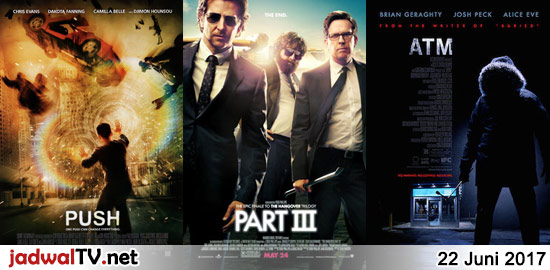 Jadwal Film dan Sepakbola 22 Juni 2017 – GlobalTV 06.00WIB: Cinderella (animasi) – RCTI 08.30WIB: Ratatouille (2007 – animasi) – Trans7 09.00WIB: The Fabulous Udin (2016 – M. Fazzill Alditto, Difa Ryansyah) – GlobalTV 14.30WIB: The Pacifier (2005 – Vin Diesel, Lauren Graham, Faith Ford) – TransTV 19.30WIB: Push (2009 – Chris Evans, Dakota Fanning, […]