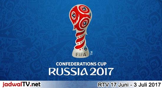 Jadwal Piala Konfederasi 2017 Di RTV Piala Konfederasi 2017 (Confederation Cup 2017) akan diadakan di Rusia pada tanggal 17 Juni sampai 3 Juli 2017. Ada 8 negara yang ikut serta, yaitu Rusia, Portugal, Selandia Baru, Meksiko, Kamerun, Australia, Chili, dan Jerman. Hampir semua pertandingan akan disiarkan oleh stasiun RTV, kecuali pertandingan yang berlangsung pada jam […]
