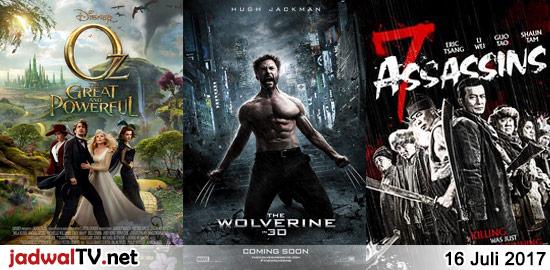 Jadwal Film dan Sepakbola 16 Juli 2017 – GlobalTV 08.30WIB: Toy Story (1995 – animasi) – GlobalTV 12.00WIB: Oz The Great and Powerful (2013 – James Franco, Mila Kunis, Rachel Weisz) – TransTV 19.00WIB: Danny The Dog (2005 – Jet Li, Bob Hoskins, Morgan Freeman) – GlobalTV 19.00WIB: The Wolverine (2013 – Hugh Jackman, Famke […]