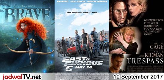 Jadwal Film dan Sepakbola 10 September 2017 – GlobalTV 08.30WIB: Brave (2012 – animasi) – SCTV 12.30WIB: Ada Cinta Di SMA (2016 – CJR, Caitlin Halderman, Gege Elisa) – TransTV 19.30WIB: Predator 2 (1990 – Danny Glover, Gary Busey, Kevin Peter Hall) – GlobalTV 19.30WIB: Fast & Furious 6 (2013 – Vin Diesel, Paul Walker, […]