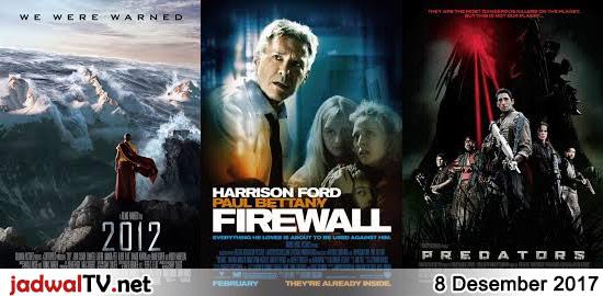 Jadwal Film 8 Desember 2017 – RCTI 08.15WIB: Pertarungan Nobita di Planet Koya-Koya (animasi) – TransTV 19.00WIB: 2012 (2009 – John Cusack, Thandie Newton, Chiwetel Ejiofor) – GlobalTV 20.00WIB: The Gods Must Be Funny in China (1996 – N!xau, Simon Lui, Gloria Yip) – TransTV 21.00WIB: Firewall (2006 – Harrison Ford, Virginia Madsen, Carly Schroeder) […]