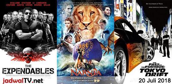 Jadwal Film dan Sepakbola 20 Juli 2018 – antv 07.00WIB: Dil Se (1998 – Shah Rukh Khan, Manisha Koirala, Preity Zinta) – antv 13.45WIB: Chori Chori Chupke Chupke (2001 – Preity Zinta, Salman Khan, Rani Mukerji) – GTV 16.30WIB: Sky High (2005 – Kurt Russell, Kelly Preston, Michael Angarano) – TransTV 20.30WIB: The Expendables (2010 […]